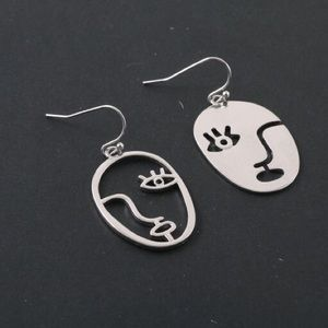 Jewelry - ⬇️SALE PRICE⬇️ HOT🔥🆕FACE STYLE SILVER EARRINGS